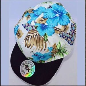 Accessories - 'Tropical Paradise' Blue SnapBack Hat